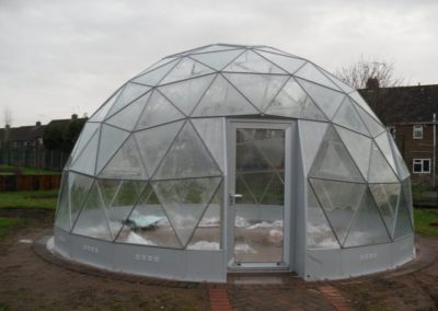 Geodome installed 12 February 2011 1