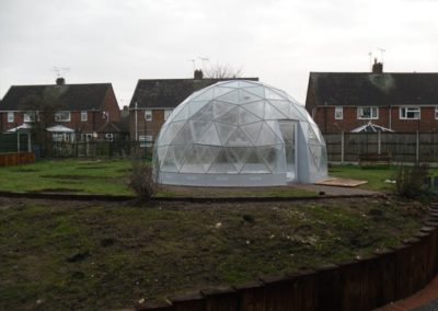 Geodome installed 12 February 2011 2