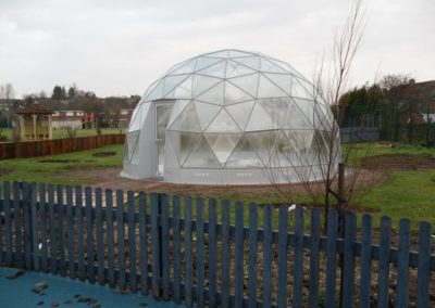 Geodome installed 12 February 2011 4