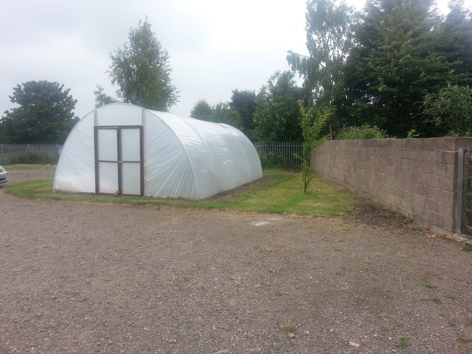Poly Tunnel in the Oasis Garden 11 June 2013